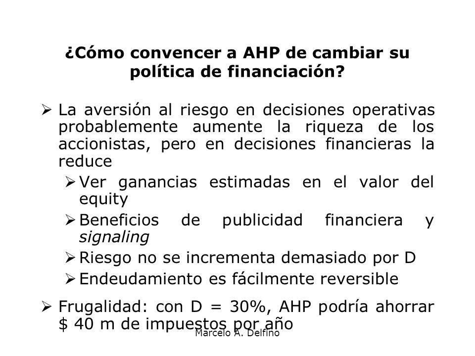 ¿Cómo convencer a AHP de cambiar su política de financiación