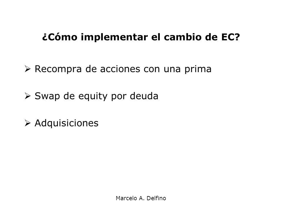 ¿Cómo implementar el cambio de EC