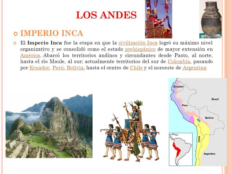 LOS ANDES IMPERIO INCA.