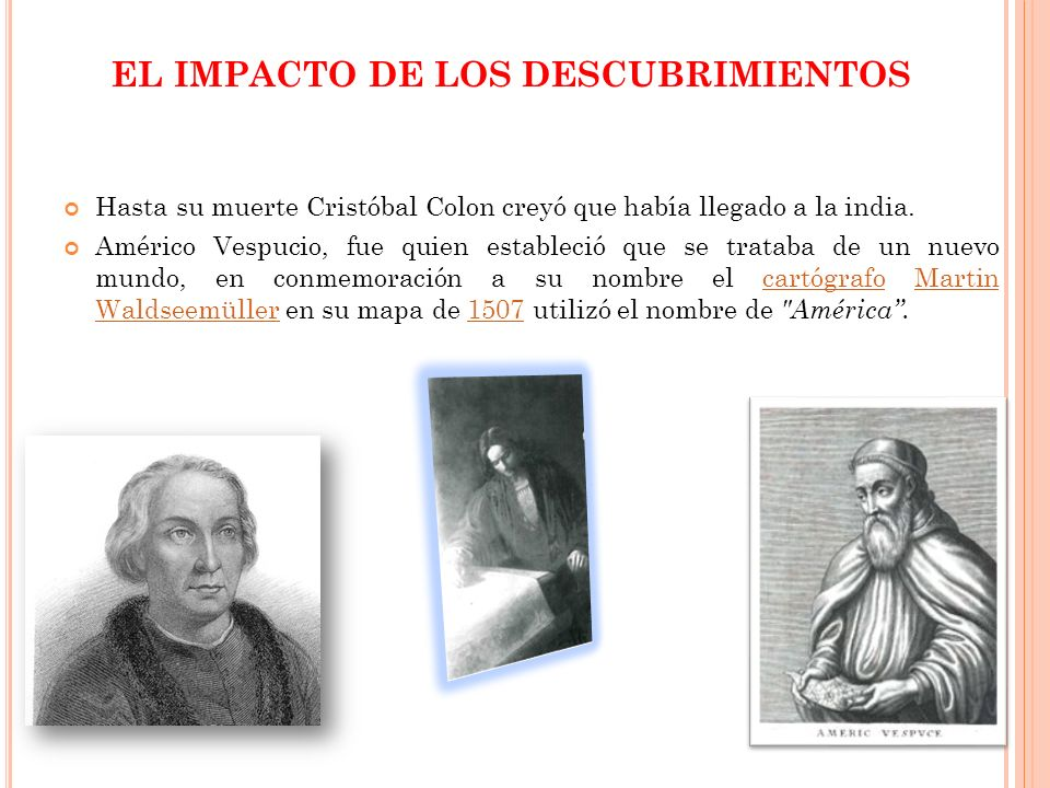 EL IMPACTO DE LOS DESCUBRIMIENTOS