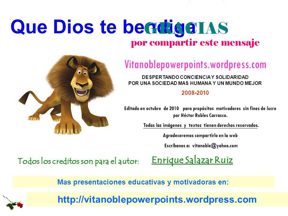 Que Dios te bendiga GRACIAS Fin Vitanoblepowerpoints.wordpress.com