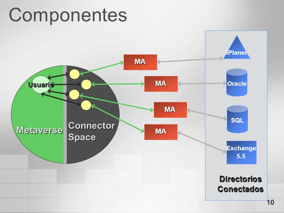 Componentes Connector Metaverse Space Directorios Conectados MA
