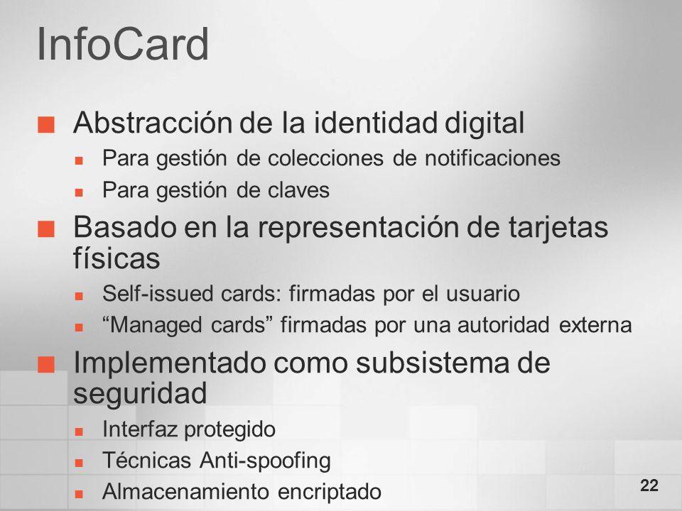 InfoCard Abstracción de la identidad digital
