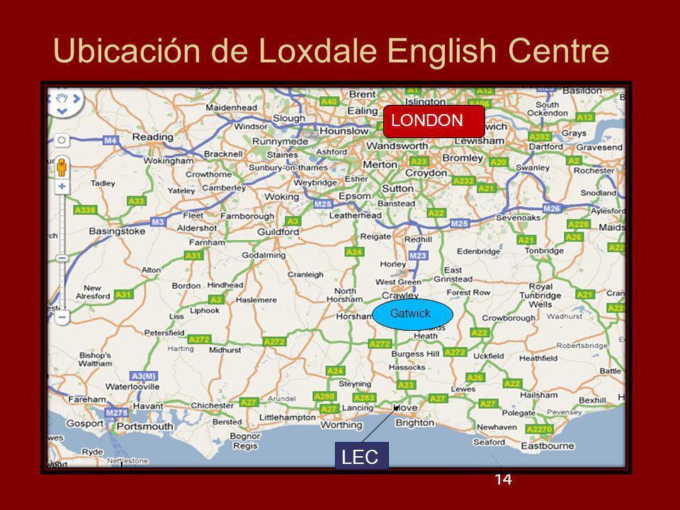 Ubicación de Loxdale English Centre