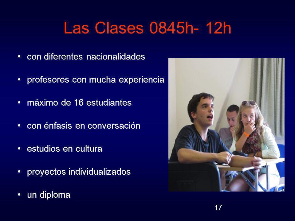 Las Clases 0845h- 12h con diferentes nacionalidades
