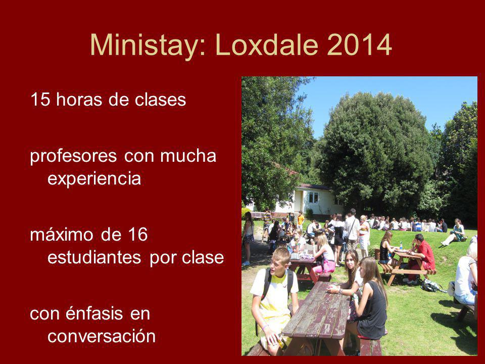 Ministay: Loxdale 2014 15 horas de clases