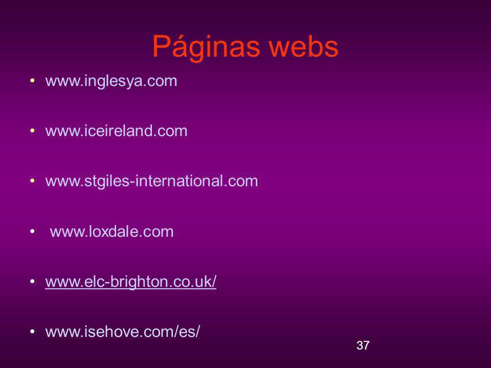 Páginas webs www.inglesya.com www.iceireland.com