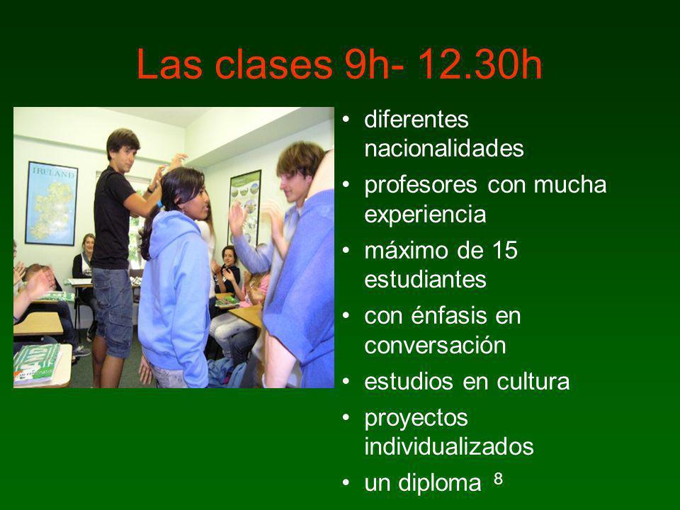 Las clases 9h- 12.30h diferentes nacionalidades