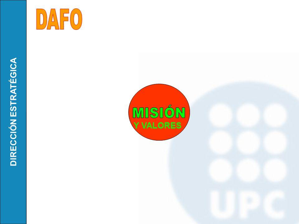 DAFO MISIÓN Y VALORES