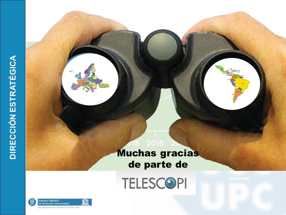 Muchas gracias de parte de TELESCOPI
