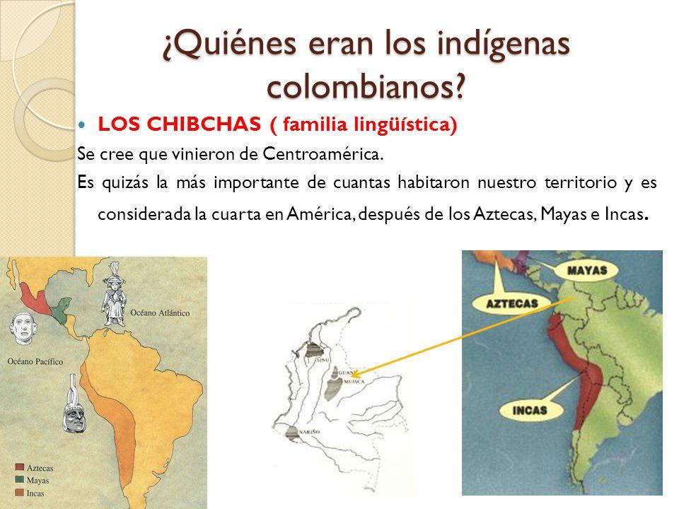 ¿Quiénes eran los indígenas colombianos