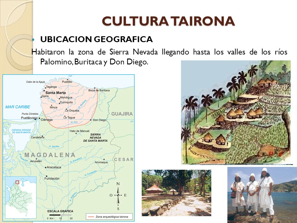 CULTURA TAIRONA UBICACION GEOGRAFICA