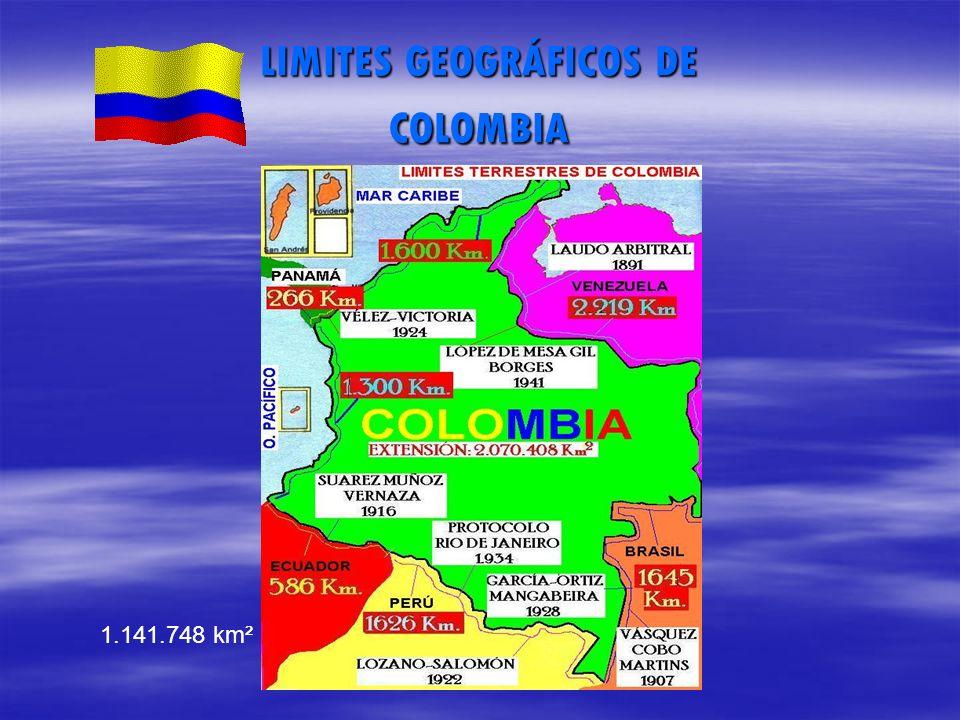 LIMITES GEOGRÁFICOS DE COLOMBIA