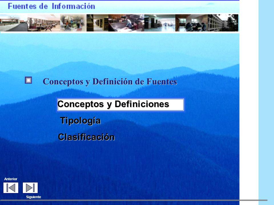 Conceptos y Definición de Fuentes