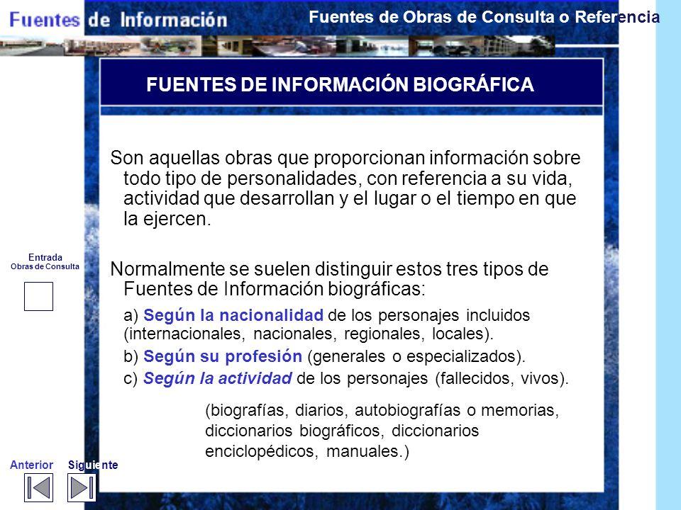 FUENTES DE INFORMACIÓN BIOGRÁFICA