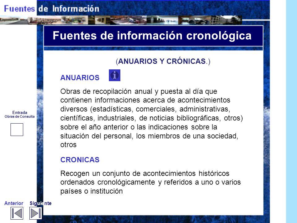 Fuentes de información cronológica