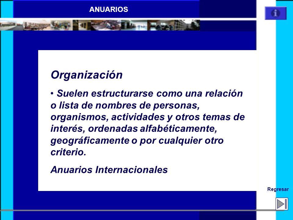 ANUARIOS Organización.