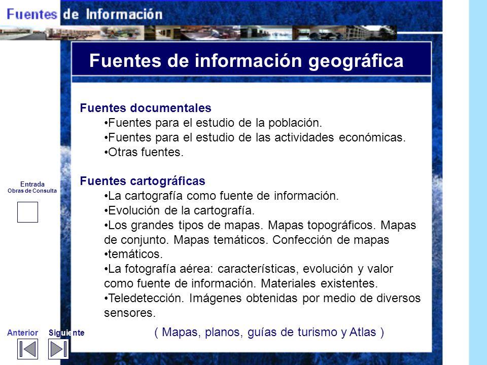 Fuentes de información geográfica