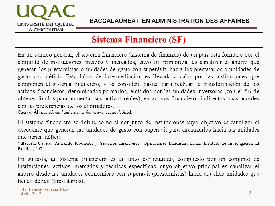 Sistema Financiero (SF)