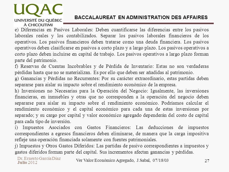 Ver Valor Económico Agregado, J.Sabal, 07/18/03