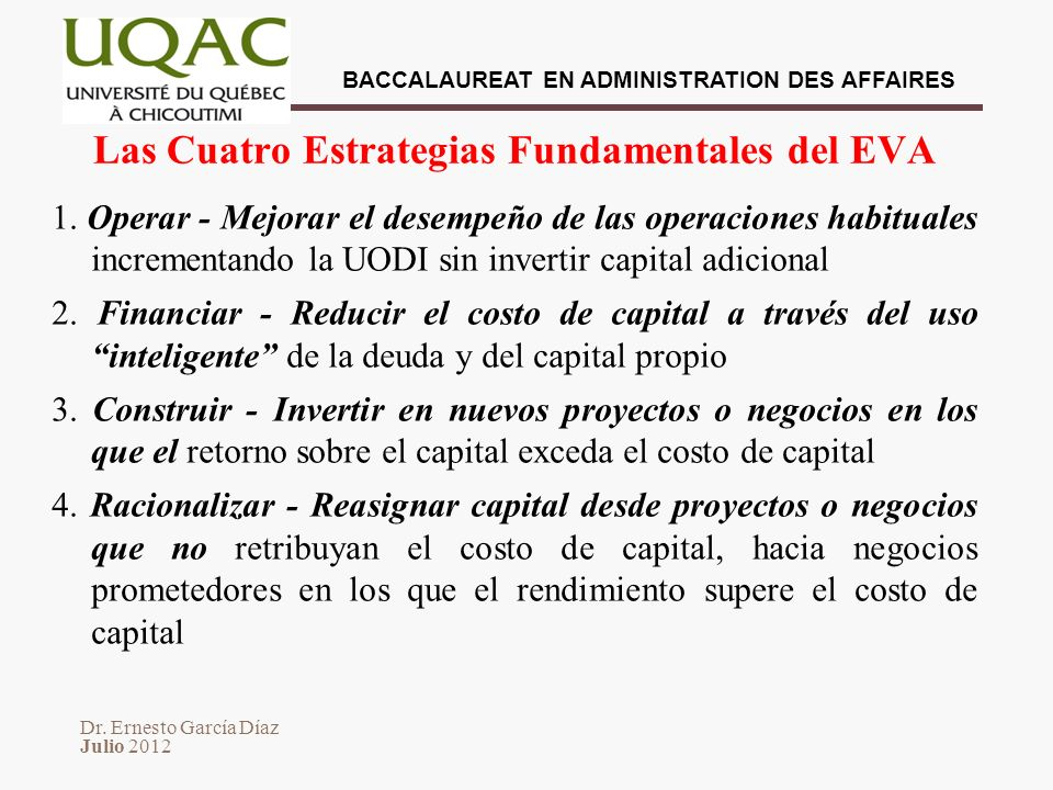 Las Cuatro Estrategias Fundamentales del EVA