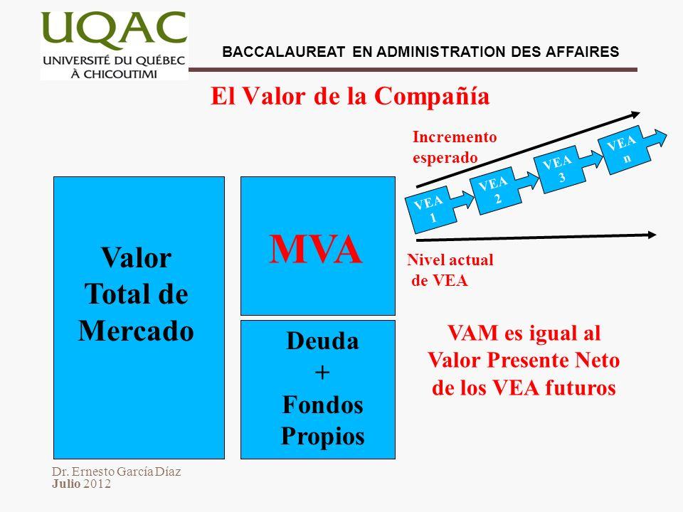 Valor Presente Neto de los VEA futuros