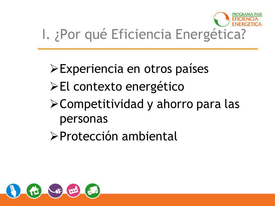 I. ¿Por qué Eficiencia Energética