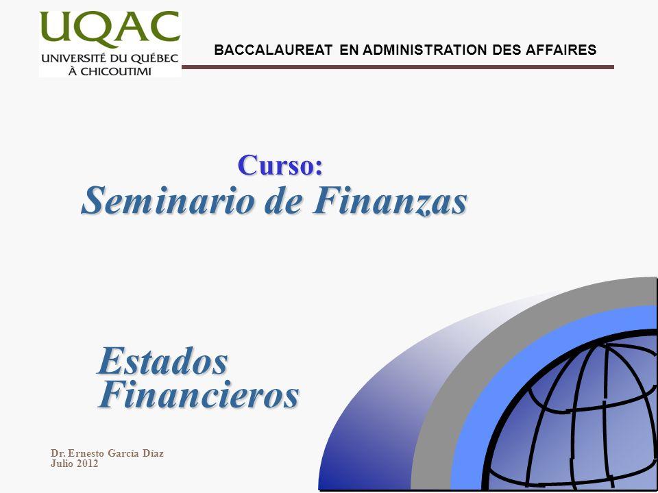 Curso: Seminario de Finanzas Estados Financieros 1 1