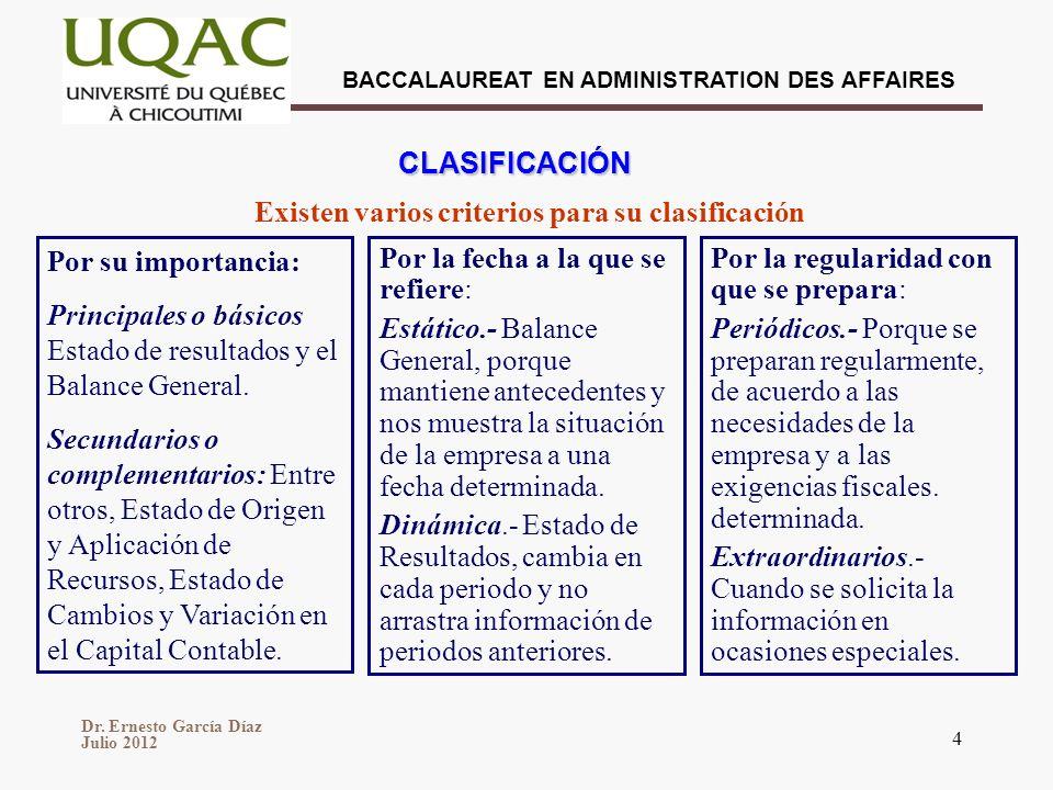 Existen varios criterios para su clasificación