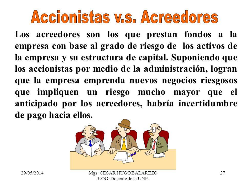 Accionistas v.s. Acreedores