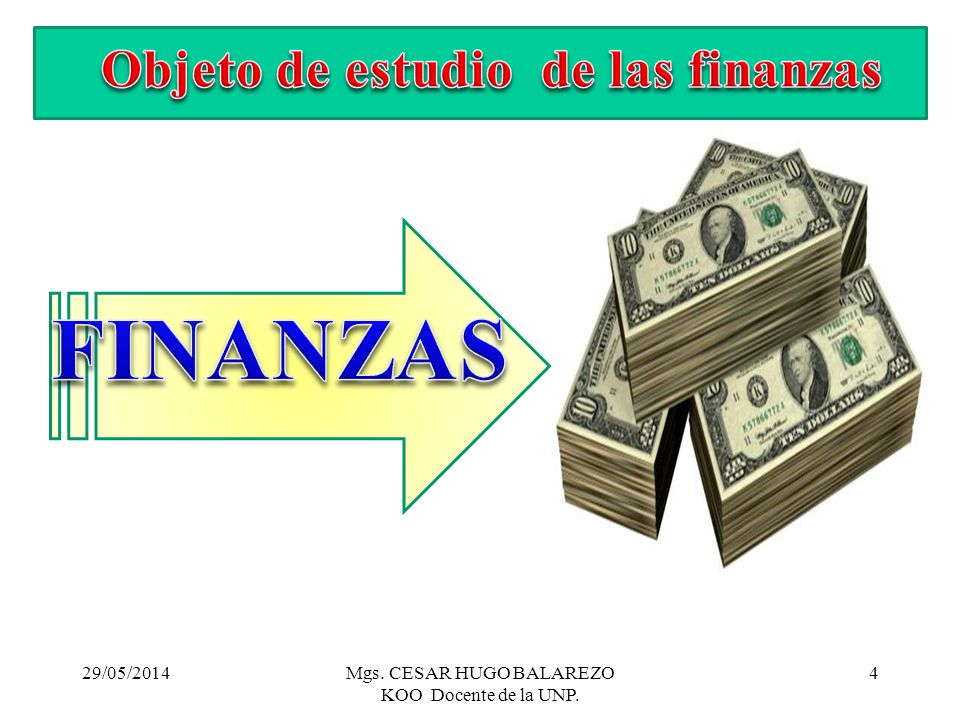 Objeto de estudio de las finanzas