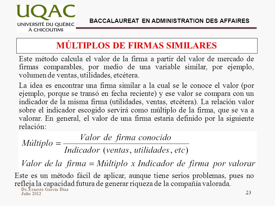 MÚLTIPLOS DE FIRMAS SIMILARES