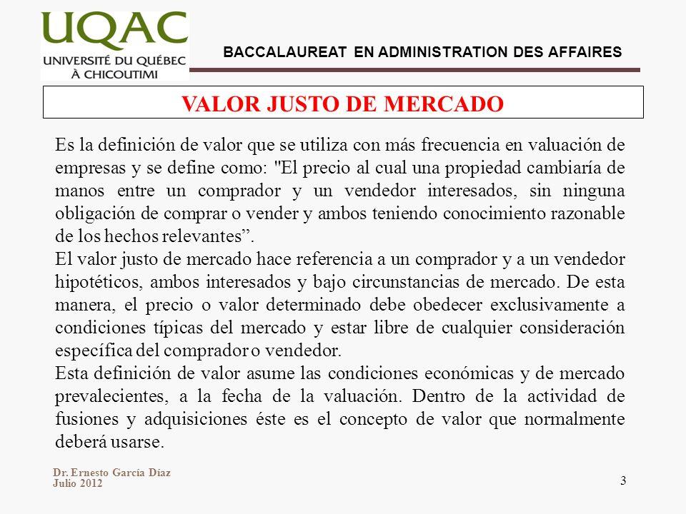 VALOR JUSTO DE MERCADO