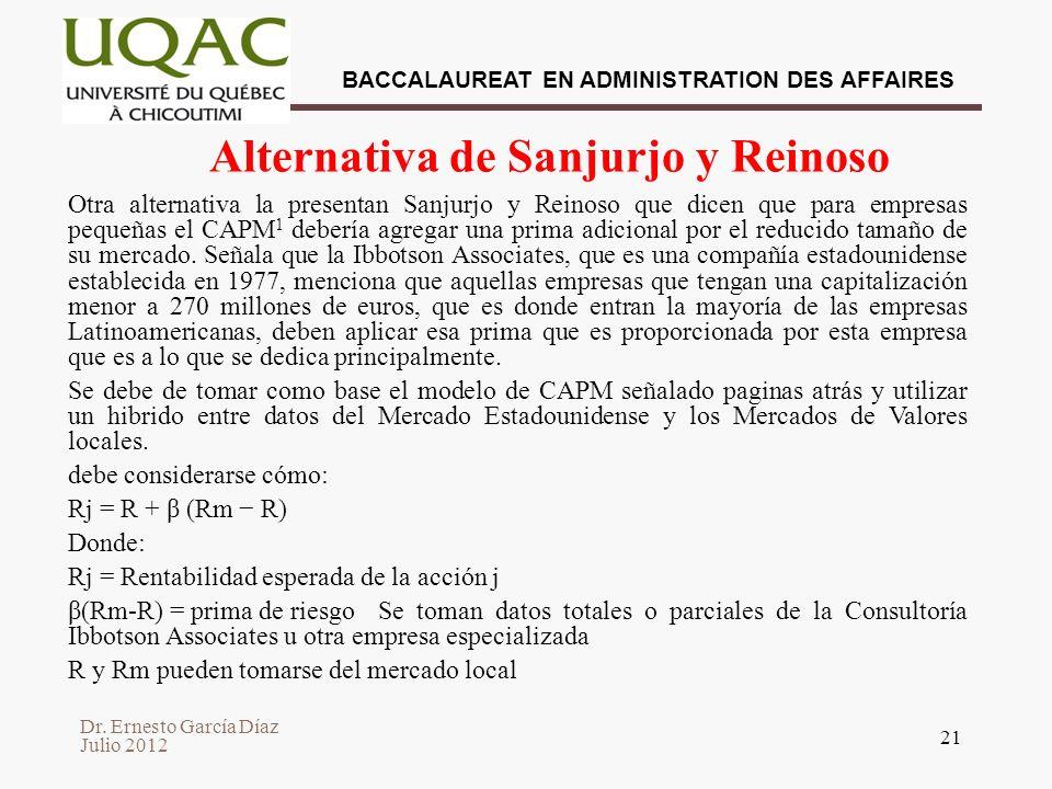Alternativa de Sanjurjo y Reinoso