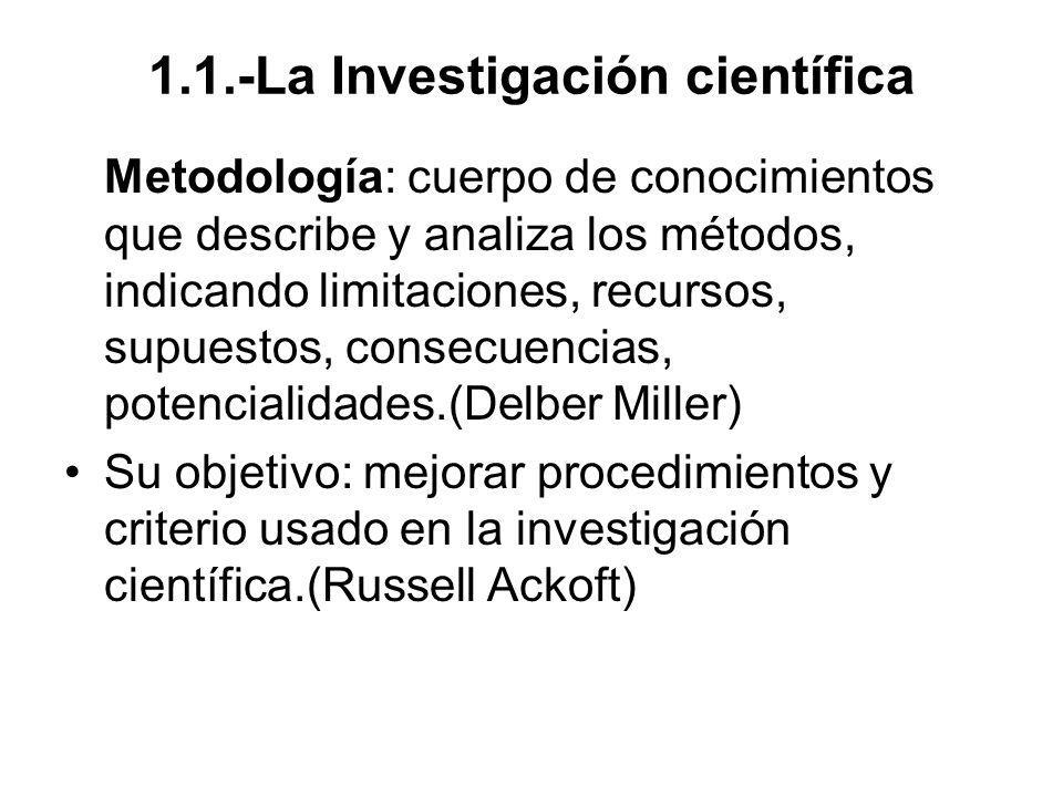 1.1.-La Investigación científica