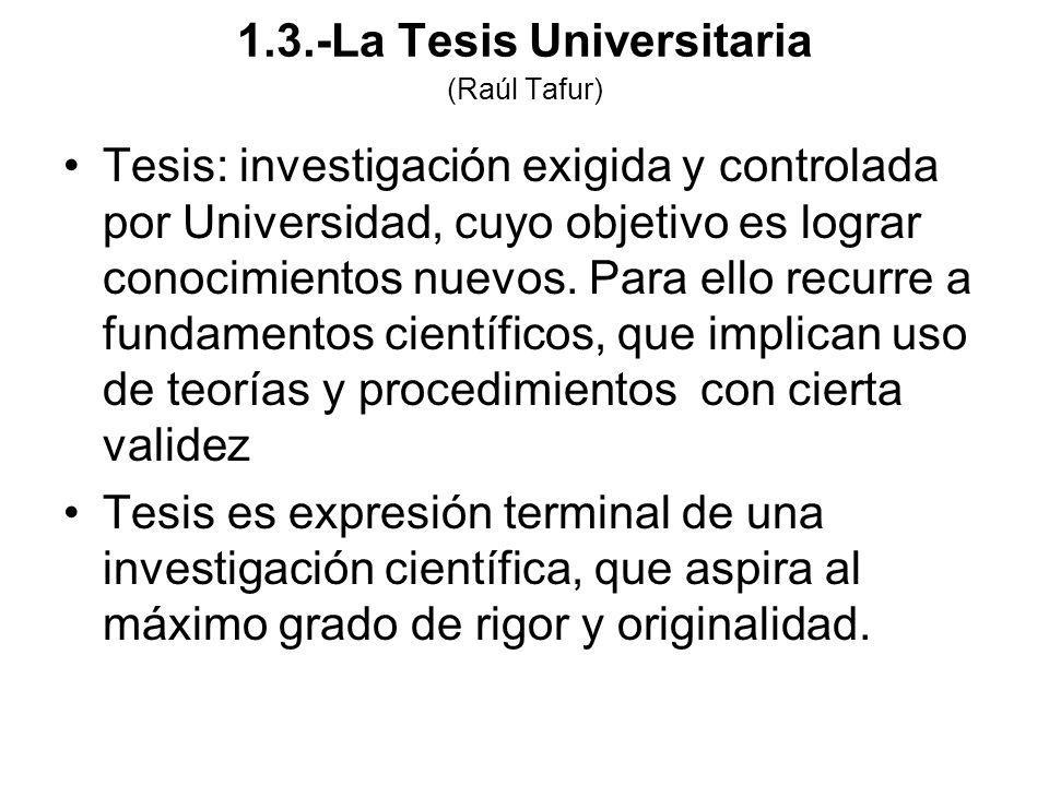 1.3.-La Tesis Universitaria (Raúl Tafur)