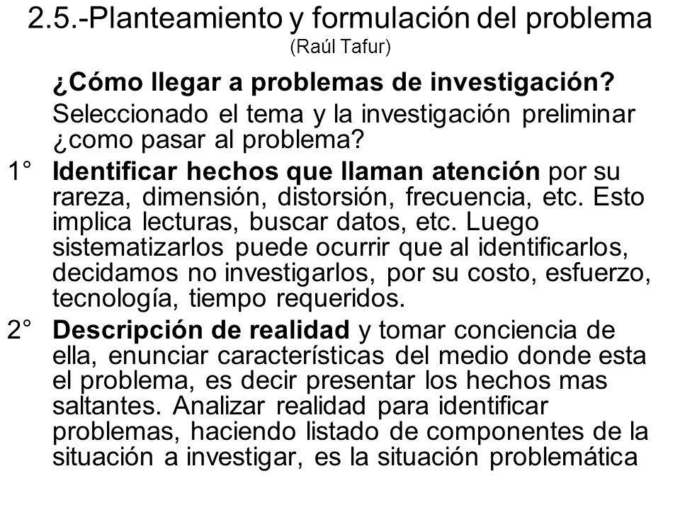 2.5.-Planteamiento y formulación del problema (Raúl Tafur)