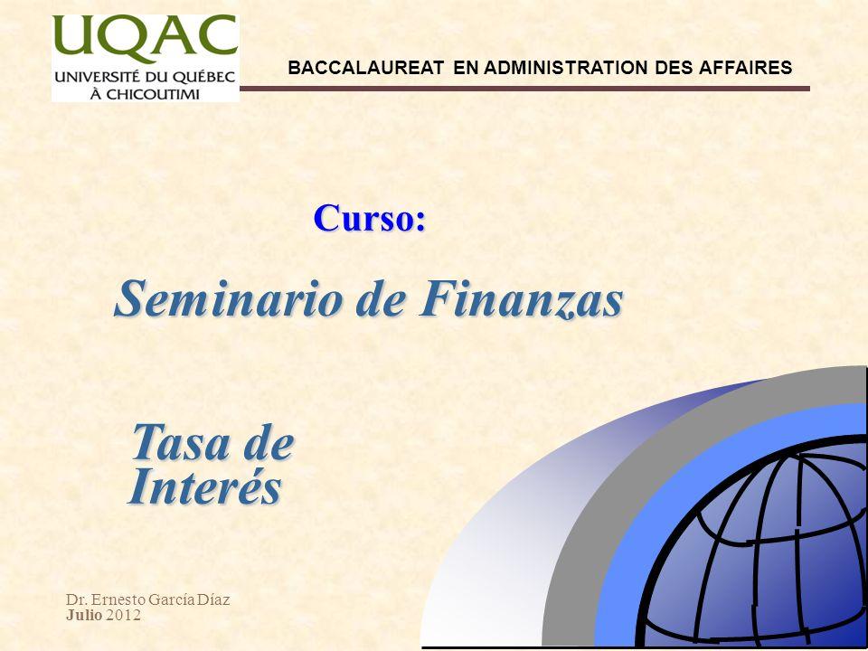Curso: Seminario de Finanzas Tasa de Interés 28 28