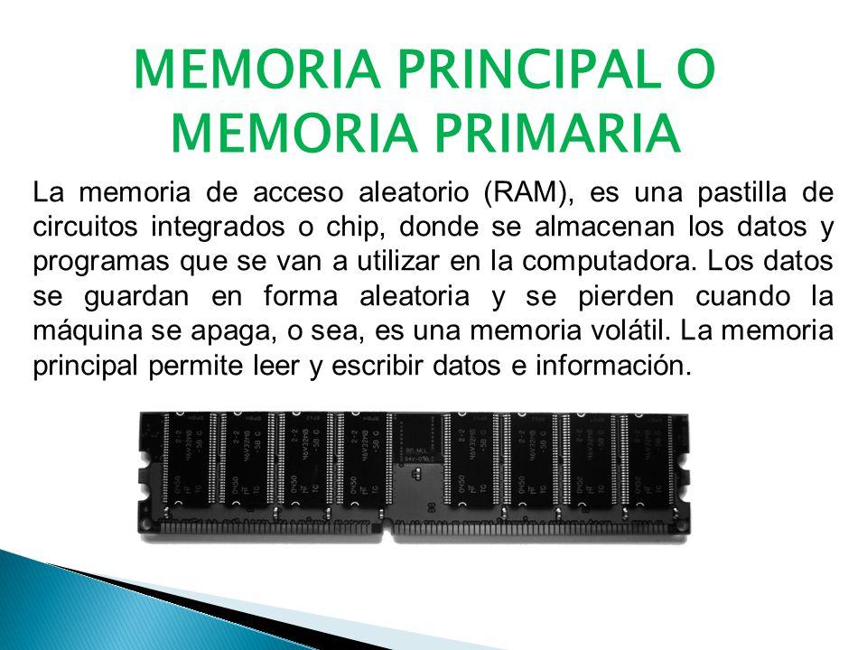 MEMORIA PRINCIPAL O MEMORIA PRIMARIA