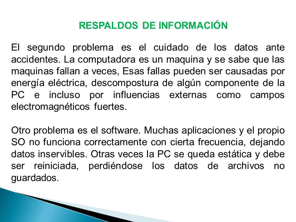 RESPALDOS DE INFORMACIÓN