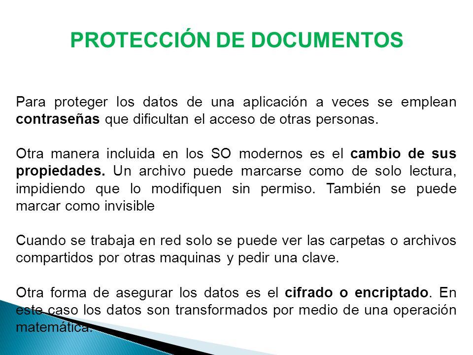 PROTECCIÓN DE DOCUMENTOS