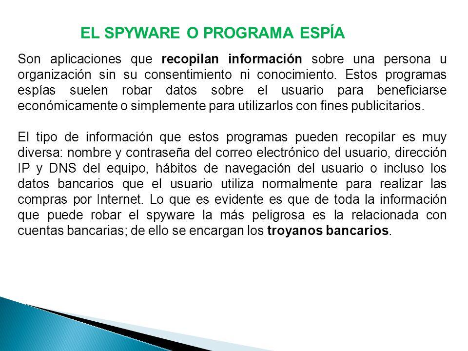 EL SPYWARE O PROGRAMA ESPÍA
