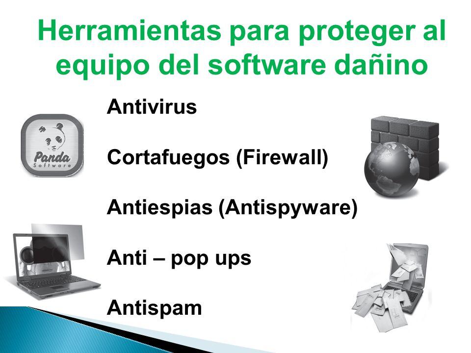 Herramientas para proteger al equipo del software dañino