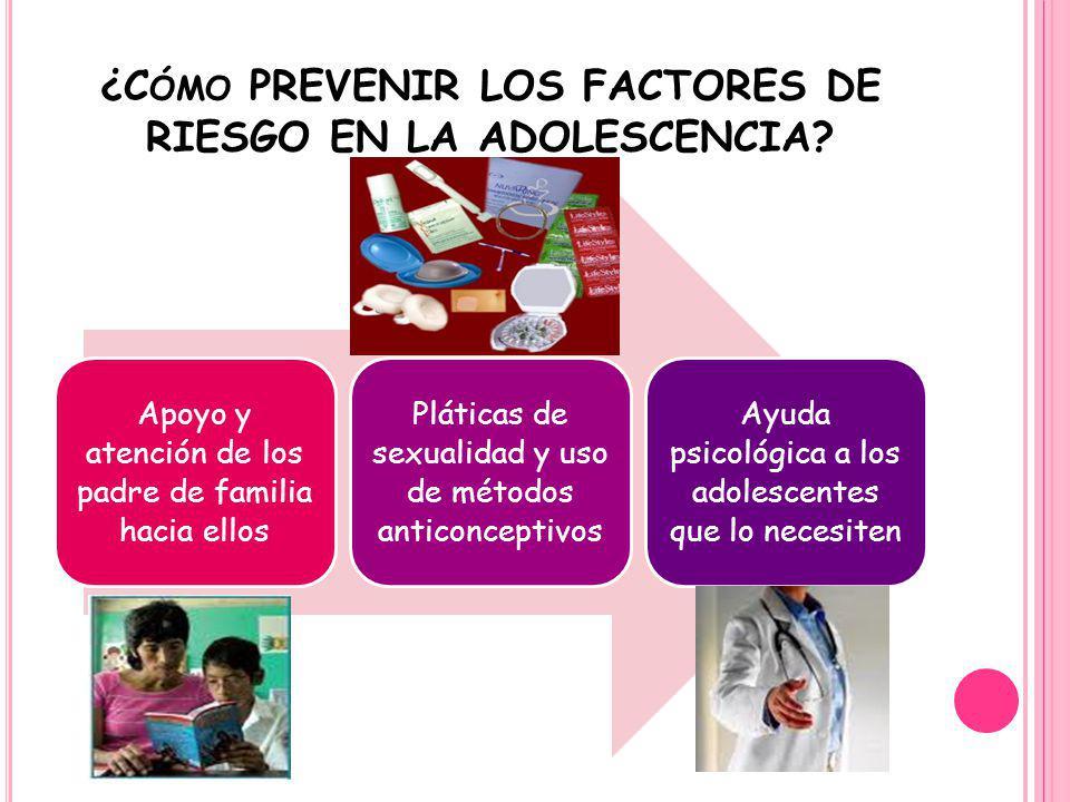 ¿Cómo PREVENIR LOS FACTORES DE RIESGO EN LA ADOLESCENCIA