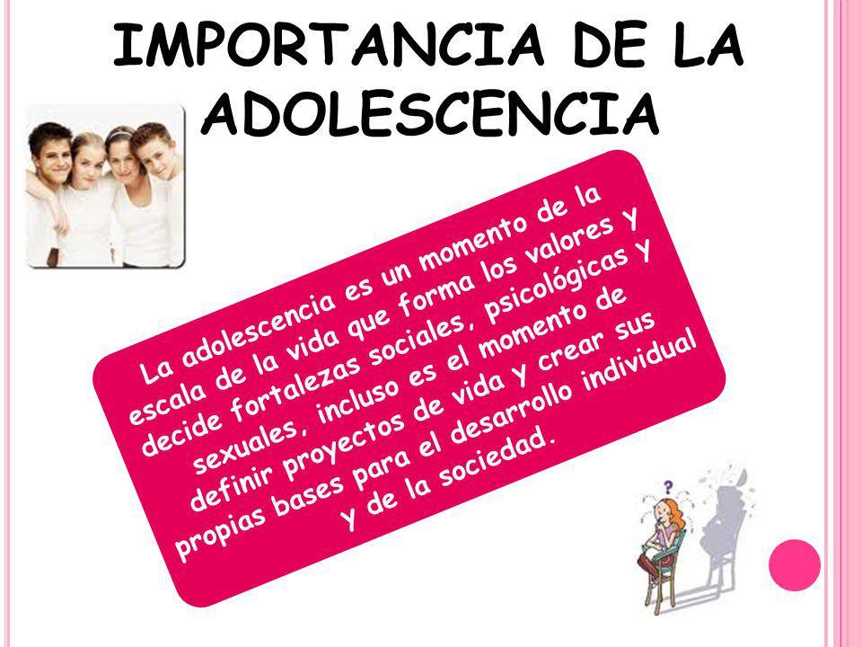 IMPORTANCIA DE LA ADOLESCENCIA