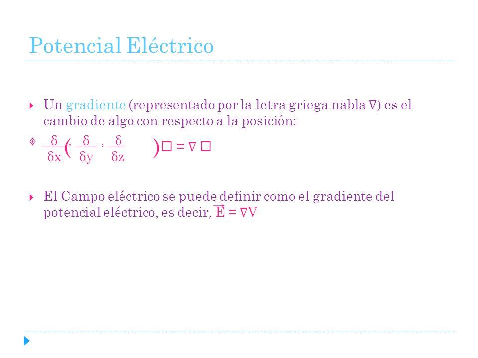 Potencial Eléctrico ( )