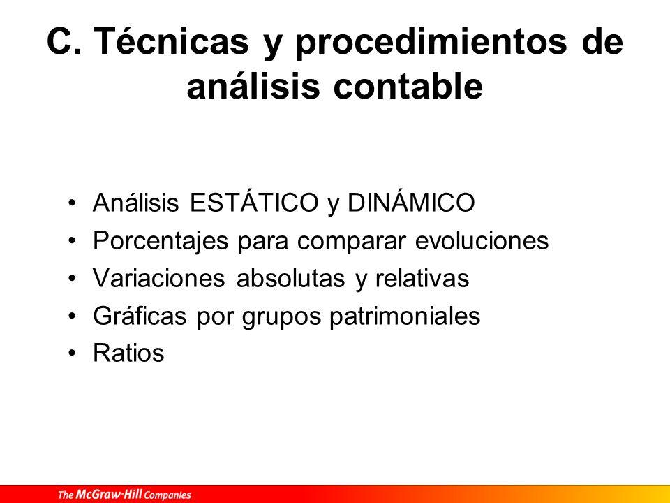 C. Técnicas y procedimientos de análisis contable