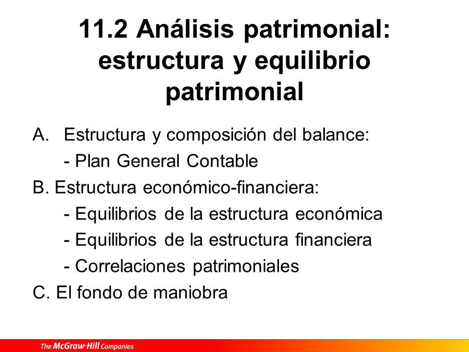 11.2 Análisis patrimonial: estructura y equilibrio patrimonial