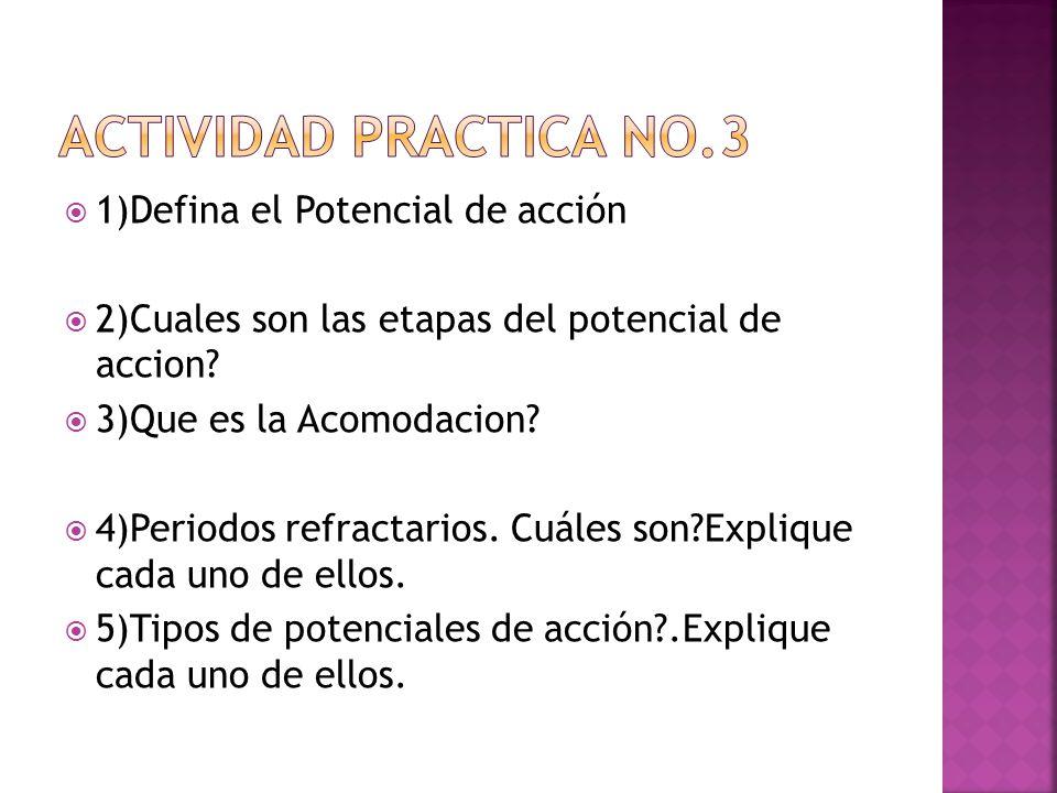 Actividad practica No.3 1)Defina el Potencial de acción
