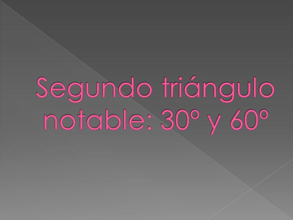 Segundo triángulo notable: 30º y 60º